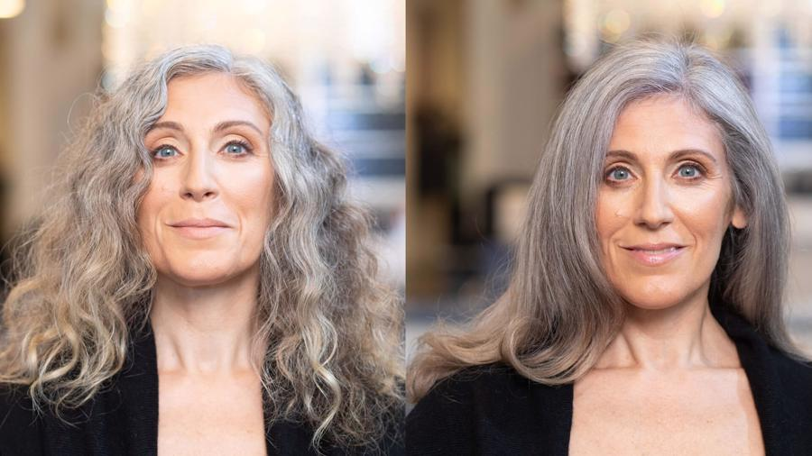 Grey Hair Blending Before and After